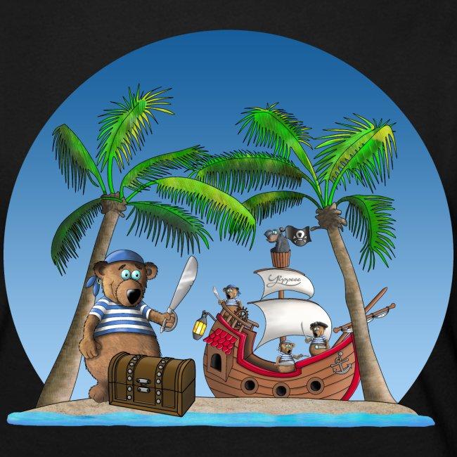 Pirat - Piratenschiff - Schatzinsel