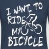 I want to ride my bicycle - Vrouwen Premium shirt met lange mouwen