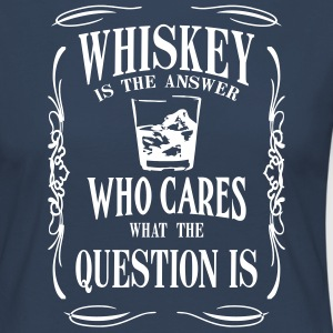 Whiskey is the answer who cares what the questuion - Frauen Premium Langarmshirt
