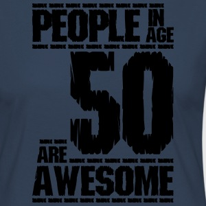 PEOPLE IN AGE 50 ARE AWESOME - Women's Premium Longsleeve Shirt