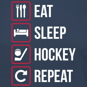 Eat Sleep Hockey Gjenta - Premium langermet T-skjorte for kvinner