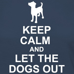 Keep Calm Dog Hotel - Premium langermet T-skjorte for kvinner