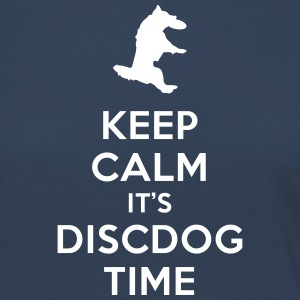 KEEP CALM IT'S DISCDOG TIME - Camiseta de manga larga premium mujer