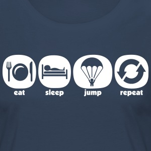 Eat Sleep Jump Repeat - Dame premium T-shirt med lange ærmer