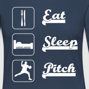 Eat sleep pitch Baseball - Women's Premium Longsleeve Shirt