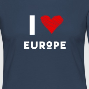 I Love Europe eu heart red love fun statement Demo - Women's Premium Longsleeve Shirt