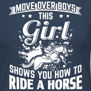 ridehorse MOVE OVER this girls shows you - Frauen Premium Langarmshirt