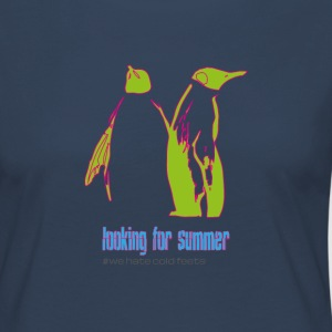 Pinguin Pärchen looking for summer - Frauen Premium Langarmshirt
