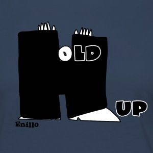 Enillo Hold Up Graphics & Typographie - T-shirt manches longues Premium Femme