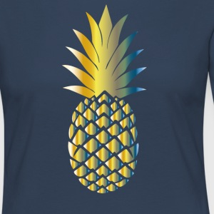 ananas Colorful - T-shirt manches longues Premium Femme