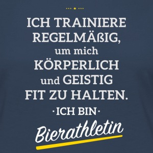 I'm training to become a Beerathletin - Women's Premium Longsleeve Shirt