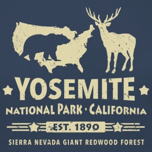Parc national de Yosemite en Californie Ours Redwood - T-shirt manches longues Premium Femme
