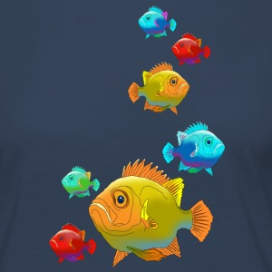 Fish perch Aquarium Ocean sea fishing water - Women's Premium Longsleeve Shirt