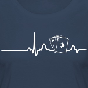 ECG HEART LINE POKER PLAYER white - Women's Premium Longsleeve Shirt