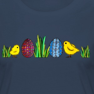Easter Egg Chick Easter chicks grass egg Spring - Women's Premium Longsleeve Shirt