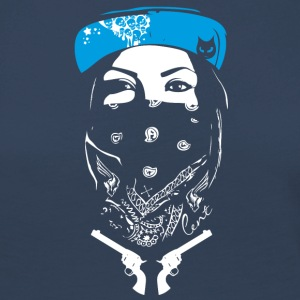 bad swag rap gang revolver street art spray tatoo - Frauen Premium Langarmshirt