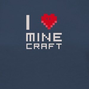 I love MC love computer games Nerd square face - Women's Premium Longsleeve Shirt