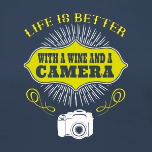 Wine and Camera - Frauen Premium Langarmshirt
