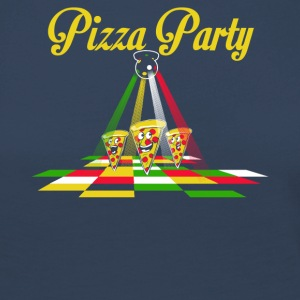Pizza Party - Dame premium T-shirt med lange ærmer