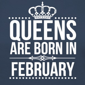 Queens are born in February gift shirt - Women's Premium Longsleeve Shirt