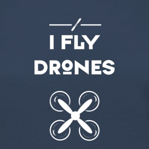 drone fly Quadrocopter pilote hélice de vol d'air - T-shirt manches longues Premium Femme
