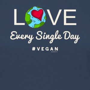 "Vegan Tshirt ""LOVE Every Single Day #vegan"" - Maglietta Premium a manica lunga da donna"