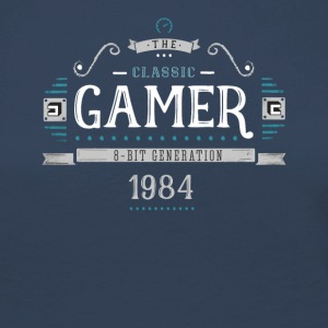 Classic Gamer Retro 8bit Generation 1984 Birthday - Women's Premium Longsleeve Shirt