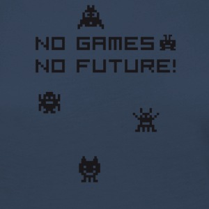 no games no future Nerd 8bit pc geek tetris Play l - Frauen Premium Langarmshirt