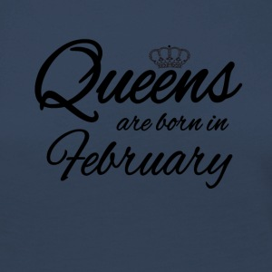 Queensborn February Princess Birthday Birthday - Women's Premium Longsleeve Shirt