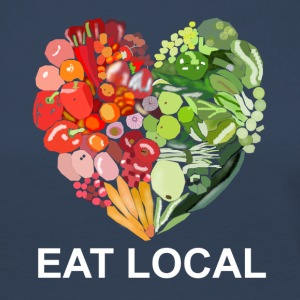 Eat local - Frauen Premium Langarmshirt