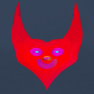 heart horns devil satan abstract - Frauen Premium Langarmshirt