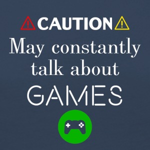 Caution I may constantly talk about games - Frauen Premium Langarmshirt
