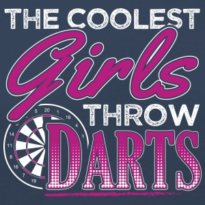 THE COOLEST GIRLS THROW DARTS - Women's Premium Longsleeve Shirt