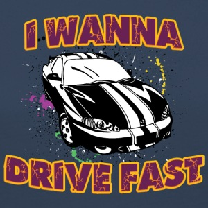 I wanna drive fast black car - Women's Premium Longsleeve Shirt