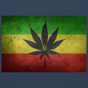 Jamaica Flag and Marijuana - Women's Premium Longsleeve Shirt