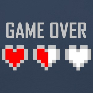game_over_tshirt_vector_by_warumono1989-d7tn9e8 - Dame premium T-shirt med lange ærmer