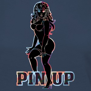 surprised naked pinup girl black - Women's Premium Longsleeve Shirt