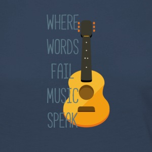 Where words fail music speak - Maglietta Premium a manica lunga da donna