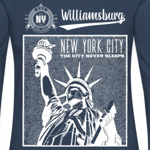New York City · Williamsburg - Långärmad premium-T-shirt dam