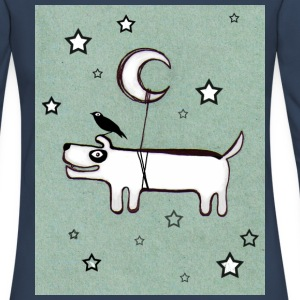 Dog, Bird & Moon - Women's Premium Longsleeve Shirt