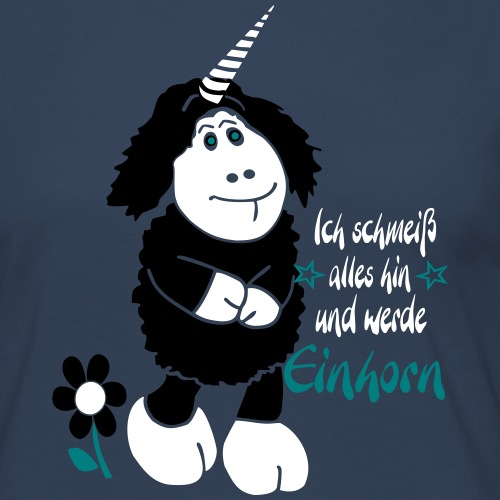 Schaf__Einhorn_7 - Frauen Premium Langarmshirt