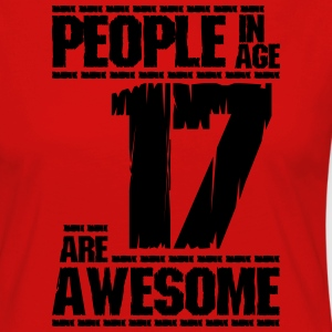 PEOPLE IN AGE 17 ARE AWESOME - Women's Premium Longsleeve Shirt