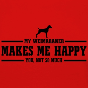 WEIMARANER makes me happy - Frauen Premium Langarmshirt