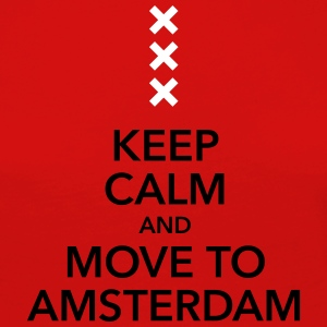 keep calm move to Amsterdam Holland Kreuz Cross - Frauen Premium Langarmshirt