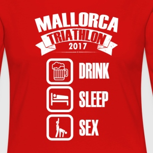 Mallorca Triathlon 2017 Drink & sex - Premium langermet T-skjorte for kvinner