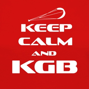 KITESURFING - KEEP CALM AND KGB - Frauen Premium Langarmshirt