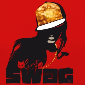 swag gold black woman rap gangster boss hot sexy - Women's Premium Longsleeve Shirt