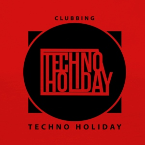 logo_techno_holiday_2017_negro1 - Premium langermet T-skjorte for kvinner