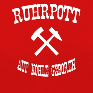 born ruhrpott on coal - Women's Premium Longsleeve Shirt