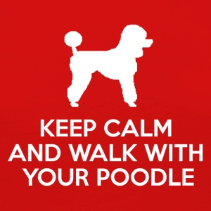 Hund / Pudel: Keep Calm And Walk With Your Poodle - Frauen Premium Langarmshirt